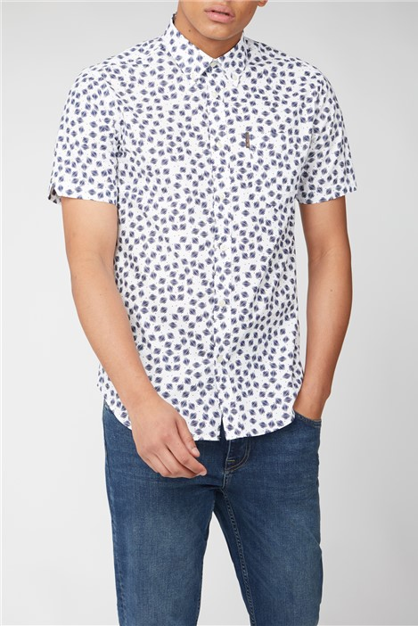 Ben Sherman Short Sleeve Scratch Print Shirt