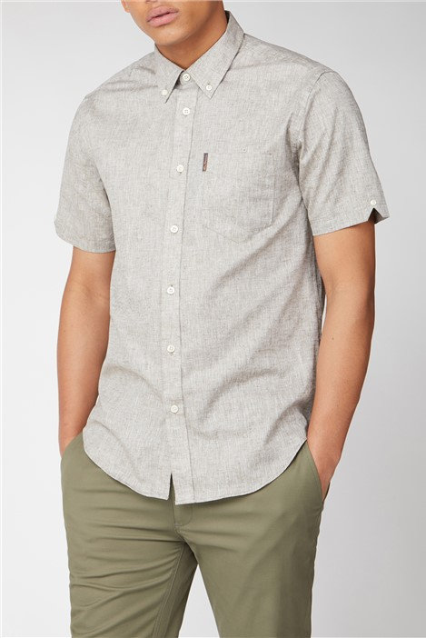 Ben Sherman Short Sleeve Linen Shirt