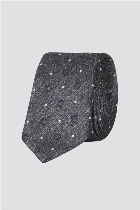 Jeff Banks Brit Grey Spot Tie