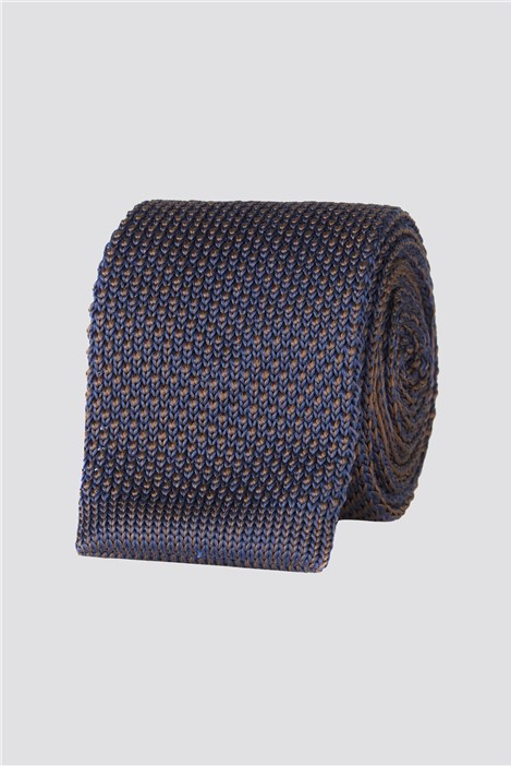 Jeff Banks Brit Navy Knitted Mens Tie