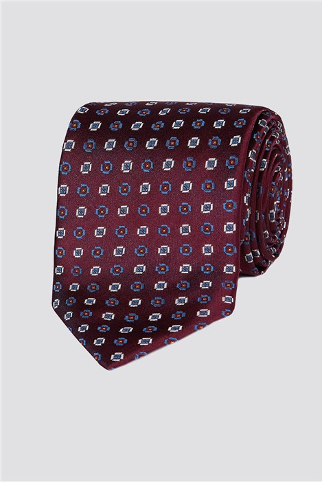 Jeff Banks London Wine Diamond Geo Tie