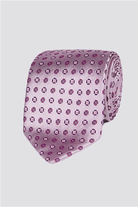 Jeff Banks London Light Pink Diamond Geo Tie