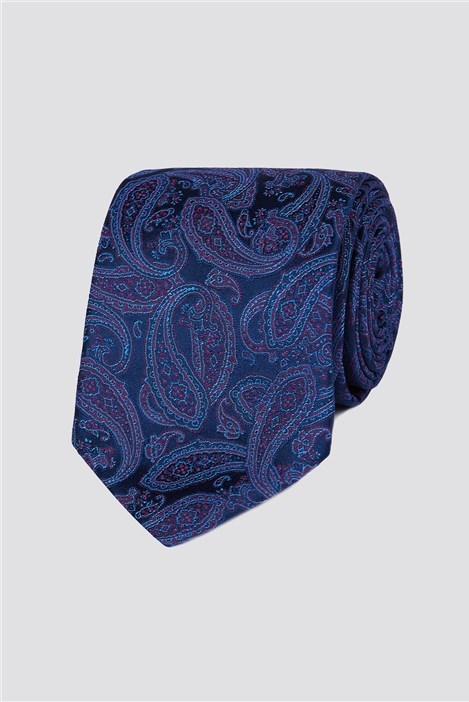Jeff Banks Outlet Jeff Banks London Navy Intricate Paisley Tie