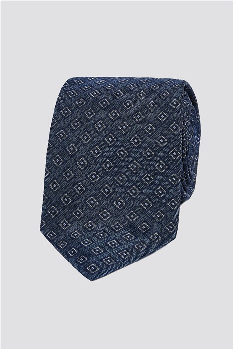 Jeff Banks Navy Geo Square Tie