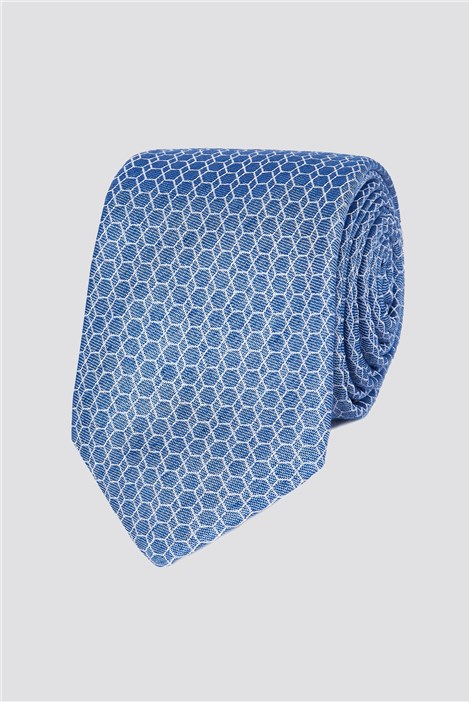 Studio Stvdio by Jeff Banks Light Blue Honeycomb Tie