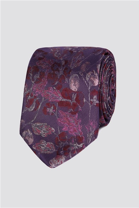 Stvdio Jeff Banks Dusky Pink Floral Tie