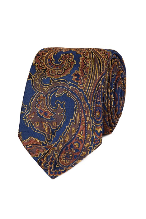 Jeff Banks Stvdio Burnt Orange Paisley Necktie