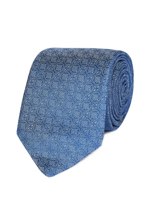 Jeff Banks Blue Intricate Deco Tie