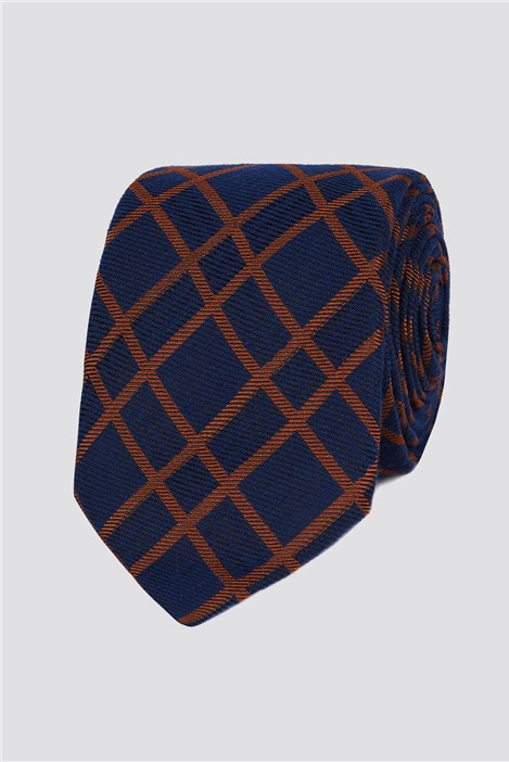 Studio Stvdio by Jeff Banks Burnt Orange Grid Tie