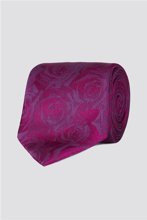 Jeff Banks Stvdio Magenta Digital Rose Tie