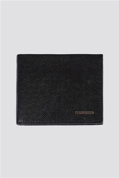 Jeff Banks Black Pebble Texture Boxed Men's Wallet