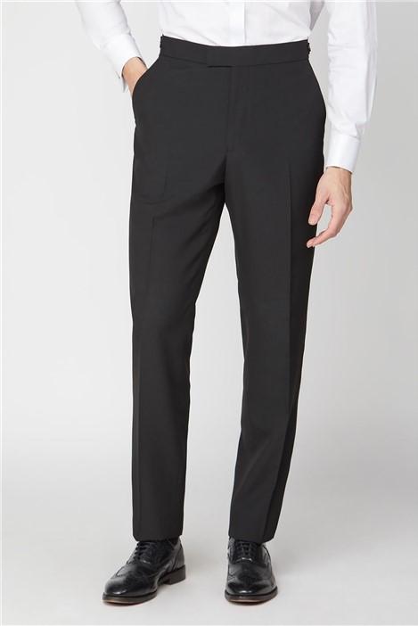 Scott & Taylor Black Satin Dresswear Trouser