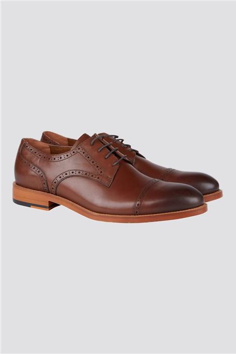 Jeff Banks Brown Cap Toe Shoe