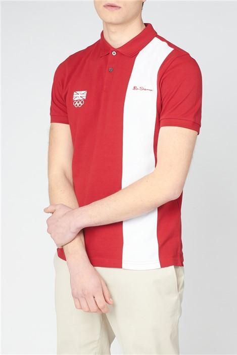 Ben Sherman  Team GB Block Stripe Polo