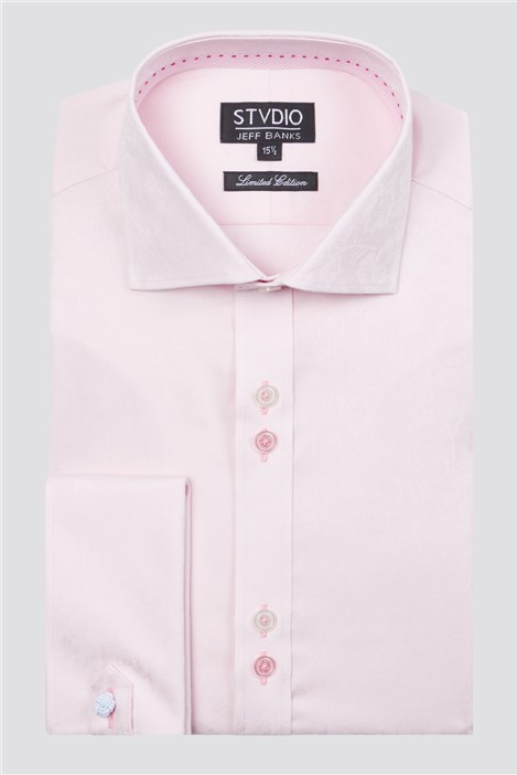 Stvdio Light Pink Floral Jacquard Shirt