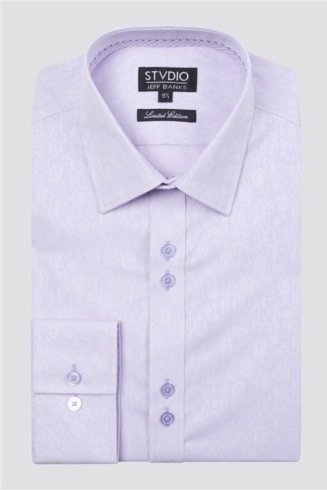 Stvdio Lilac Jacquard Shirt