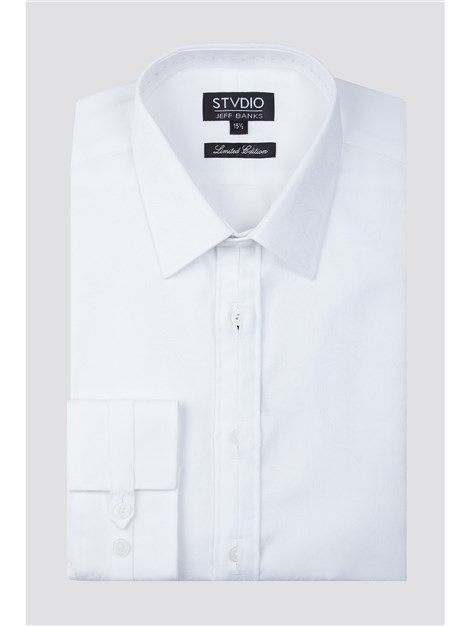 Stvdio by Jeff Banks White Paisley Jacquard Shirt
