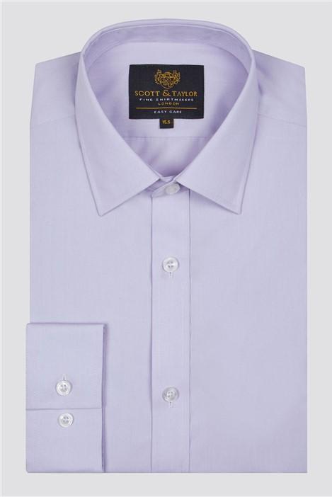 Scott & Taylor Lilac Poplin Shirt