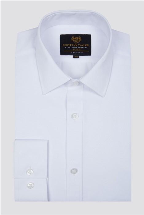 Scott & Taylor White Diamond Dobby Shirt