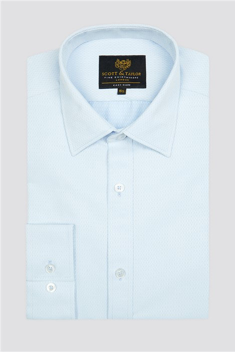 Scott & Taylor Light Blue Diamond Dobby Shirt