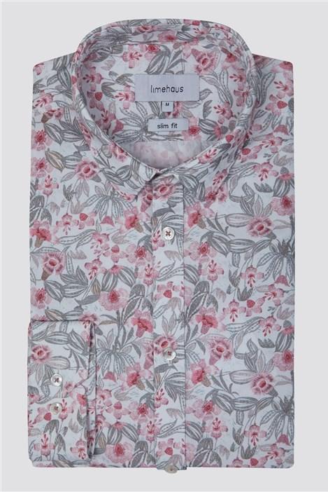 Limehaus Pink Floral Print Shirt