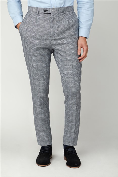 Limehaus Black and White Jaspe Check Trousers
