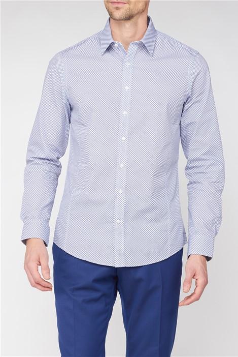 Jeff Banks Brit Navy Star Geo Print Shirt