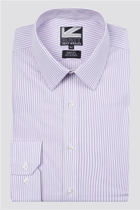Jeff Banks Brit Lilac Fine Stripe Shirt
