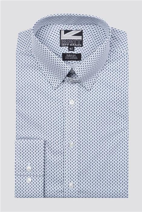 Jeff Banks Brit Black Tiles Print Shirt