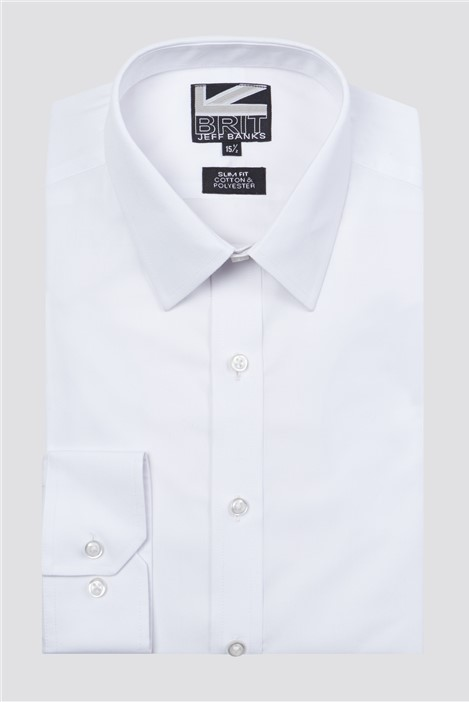 Jeff Banks Brit White Poplin Shirt