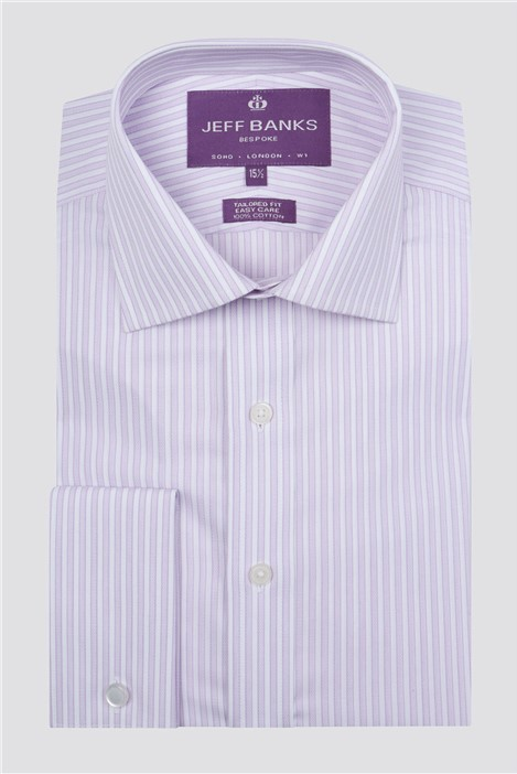 Jeff Banks Bespoke Lilac Edged Stripe Shirt