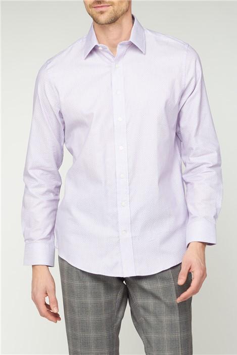Jeff Banks Bespoke Lilac Square Dobby Shirt