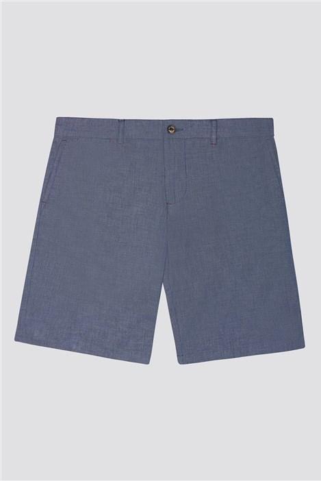 Jeff Banks Blue Chambray Shorts