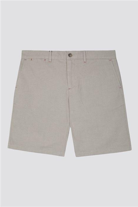 Jeff Banks Beige Textured Shorts