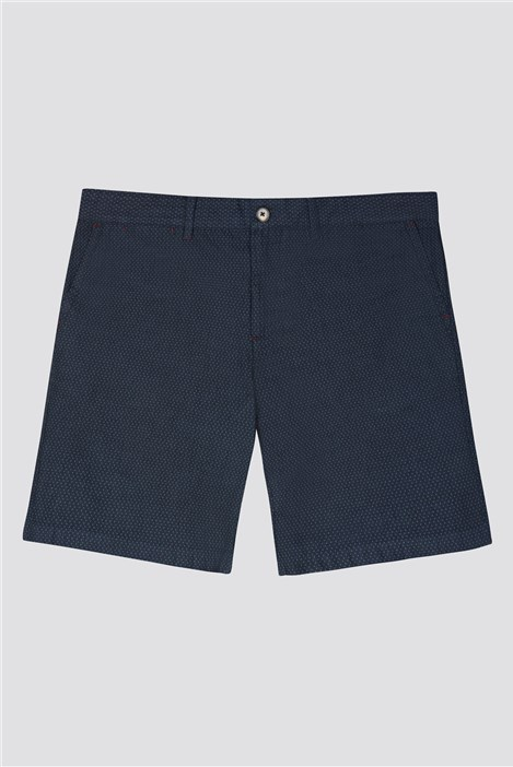 Jeff Banks Blue textured Shorts