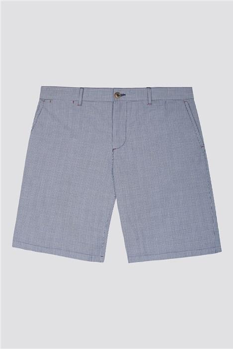 Jeff Banks Men's Navy Check Shorts