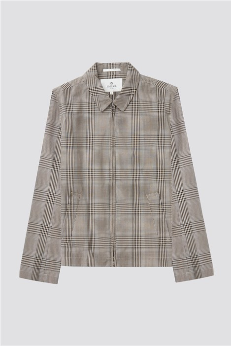 Melka Vinga Checked Harrington Jacket