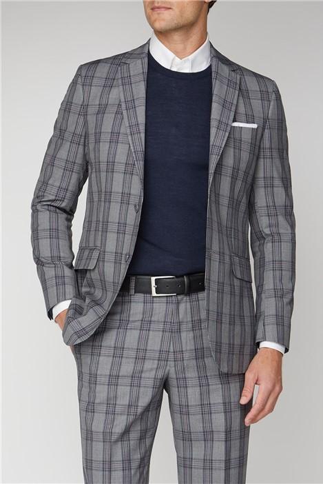 Racing Green Grey Pink Check Regular Fit Suit