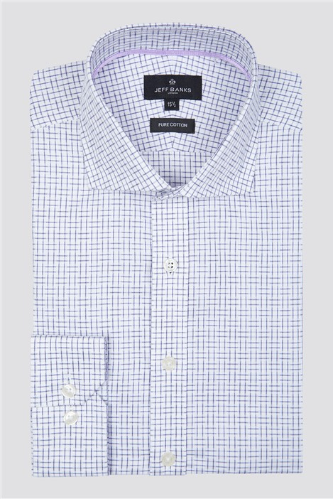 Jeff Banks London White Squares Check Shirt