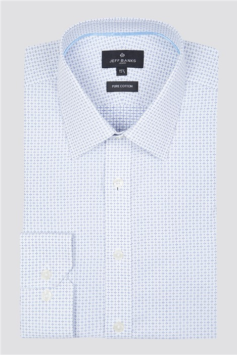 Jeff Banks London White Cross Dobby Shirt