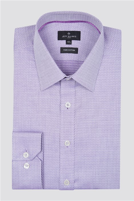 Jeff Banks London Lilac Diamond Dobby Shirt