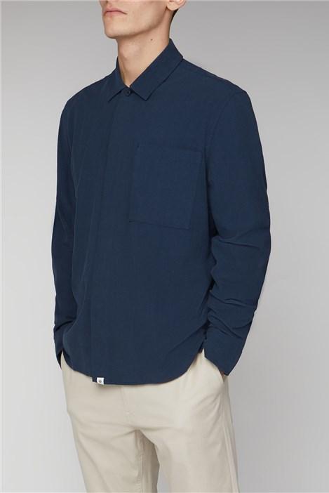 Melka Hoburg Navy Boxy Shirt