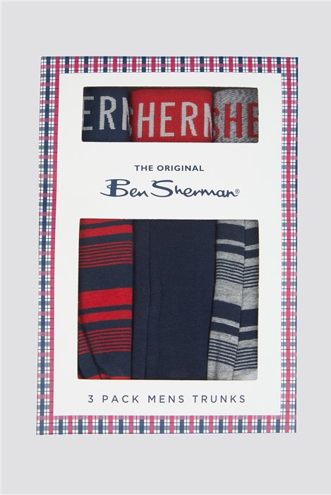 Ben Sherman 3 Pack Boxer Shorts