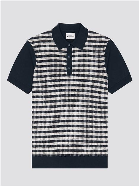 Ben Sherman Jacquard Check Polo Shirt