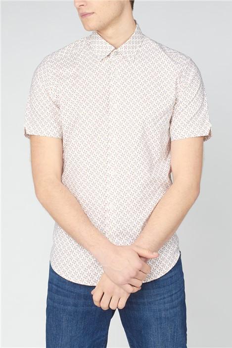 Ben Sherman  Faded Square Print Shirt