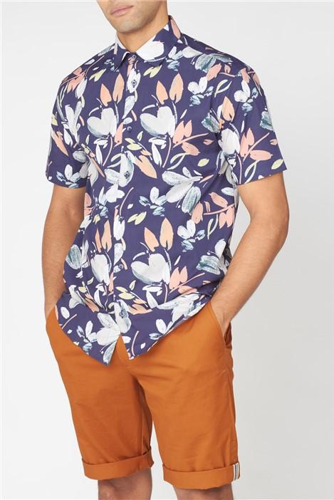 Ben Sherman Hand Drawn Floral Print Shirt