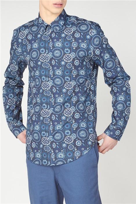 Ben Sherman Large Foulard Print Shirt