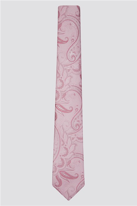 Scott & Taylor Light Pink Textured Paisley Tie