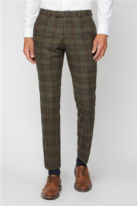 Racing Green Tweed Heritage Check Suit Trousers