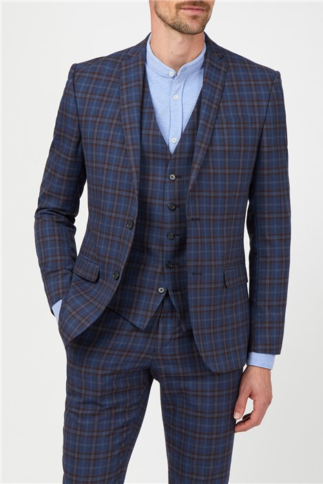 Limehaus Blue with Warm Check Suit